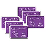 Just for Kids Scented Ink Pad Grape/Purple, Pack of 6