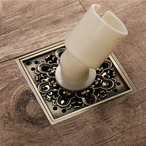 YHSGY Messing Antike Bronze Deodorant Drain Kupfer Verchromt Spezielle Waschmaschine Duschbodenabläufe