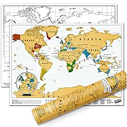 Fun travel map first year anniversary gift idea paper gift