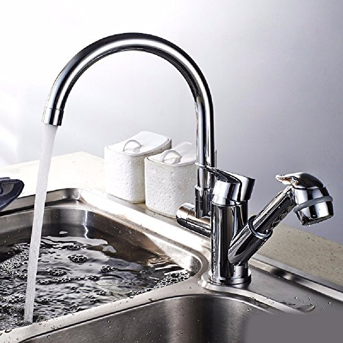 Fantastic Deal! WAWZJ Kitchen Faucet All Copper Pull Type Faucet Hot And Cold Kitchen Washing Basin ...