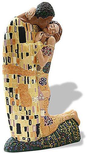 El hombre mujer Abrazando Estatua El beso Gustav Klimt
