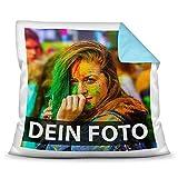Tassendruck Foto-Kissen Selbst gestalten (40 x 40 cm) - mit Foto individuell Bedruckt/Rückseite...