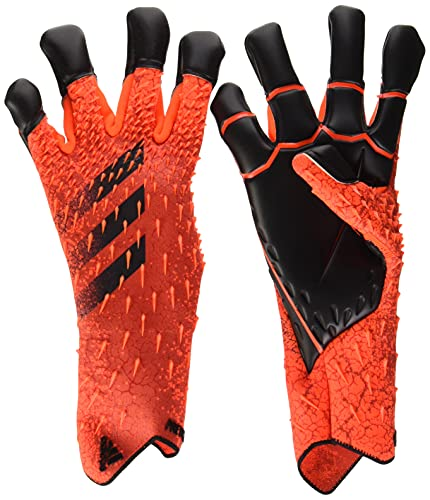 adidas Predator Hybrid Pro Goalkeeper Gloves (W/O Fingersave) (unisex-adult) Solar Red/Red/Black 7