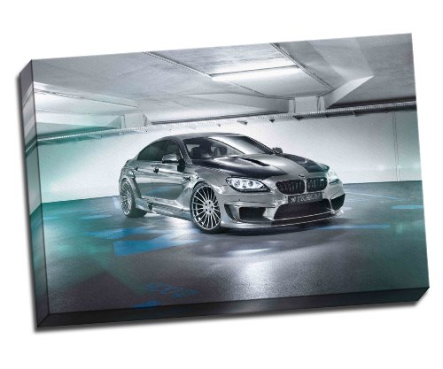 "Panther Print Hamann Bmw M6 Gran Coupe Canvas Art Print Poster 30""X 20"" Inches 76.2 x 50.8 cm"