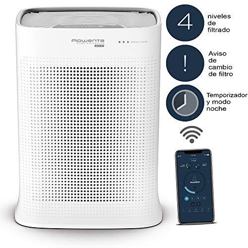 Rowenta PU3080 Luftreiniger Pure Air Genius, Extrem leise, Steuerung per App, Vorbeugung gegen Allergien, Automatische Anpassung, 4 Filterstufen, Luftwäscher, Partikelfilter