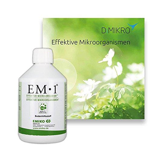 EM1 Urlösung Emiko + Broschüre über Effektive Mikroorganismen DIMIKRO (0,5L)