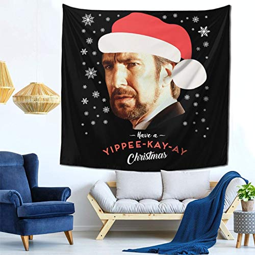 1033 Hans Gruber Have A Yippee Kay Ay Christmas Die Hard Wall Hanging Tapestry for Living Room and Bedroom Spreads Good Vibes 59×59 Inches