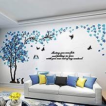 Adesivo de parede de árvore 3D de acrílico KINBEDY fácil de instalar e aplicar, adesivo de decoração faça você mesmo, deco...