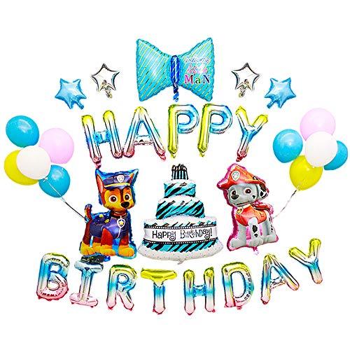 Globos de Aluminio de Cumpleaños con Tema del Equipo de Wang Wang, Adecuados para Fiestas de Cumpleaños de niños, Decoraciones para Fiestas, Patrullas de Perros