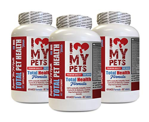 I LOVE MY PETS LLC Dog Skin Itch Relief - Dog Total PET Health - Premium Formula - Best Complex - Cranberry Pills for Dogs - 3 Bottles (180 Treats)