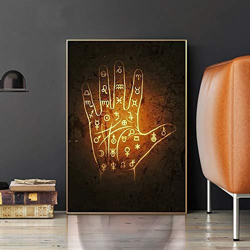 DIY 5D Diamant Malerei Kit 5D Diamantkunst,Islamisches Plakat Arabische Kalligraphie Goldene Palme Druck Wandkunst Bild Leinwand Gemälde Moderne muslimische Heimdekoration
