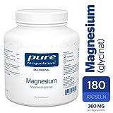 Pure Encapsulations - Magnesium (Glycinat) 120mg - Bioverfügbares Magnesiumchelat Nahrungsergänzungsmittel bei Müdigkeit & Erschöpfung - 180 Veg. Kapseln
