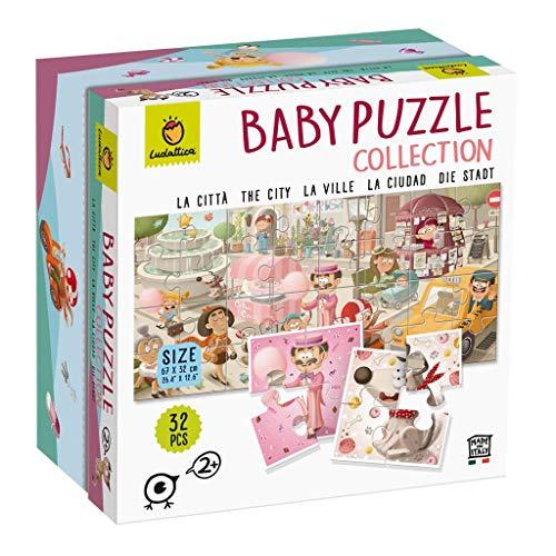 Ludattica-82261 Ludattica 82261 Puzzle Infantil La Ciudad, Multicolor, Unica (Educational