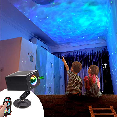KOOT Star Light Projectors Galaxy Projector for Bedroom Ceiling, Led Sky Light with Nebula and Star, RGB 7 Color Lighting Mode Starry Night Lights for Kid, Adult, Party Decoration, Christmas