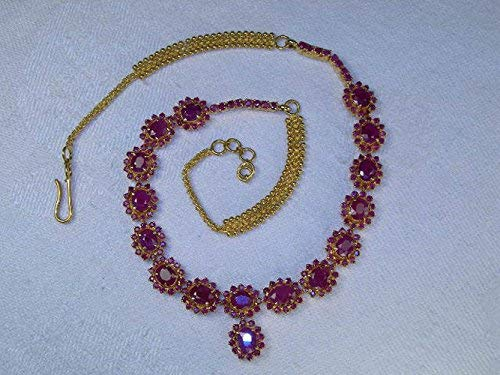 Magnificent Estate 24K 22K Yellow Gold 40 Carat Ruby Rubies Necklace