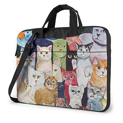 All Kinds of Lovely Cats Laptop Sleeve Case Computer Tote Bag Shoulder Messenger Briefcase for Business Travel