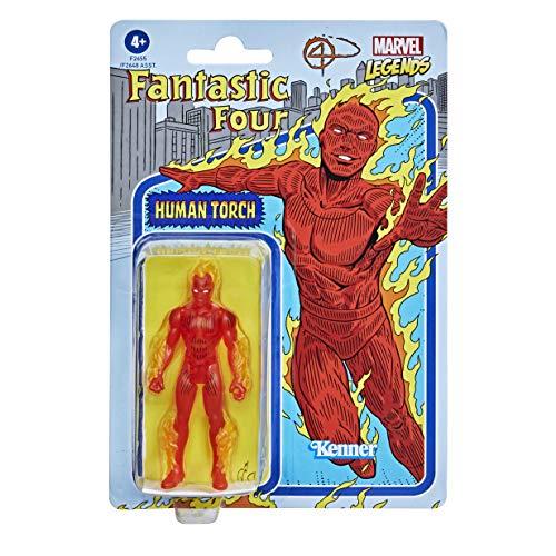 Hasbro Marvel Legends Series - Figura de Antorcha Humana de 9.5 cm - Colección Retro 375