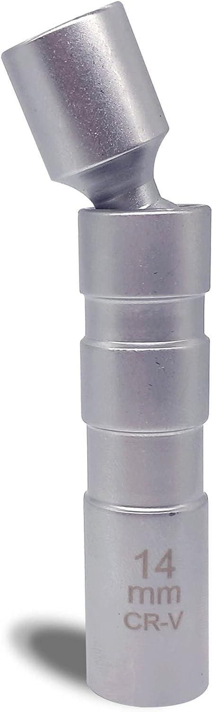 LOGOL 14mm Swivel Magnetic Spark Socket,3 Driveï¼ Plug National uniform free shipping Long Beach Mall 8