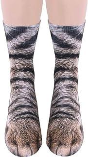 popluxy 動物足蹄 動物の靴下 大人のデジタルシミュレーション 動物模様 ファッションの 靴下 動物柄の靴下 可愛い 抗菌防臭 レッグウォーマー 保温 防寒 (猫)