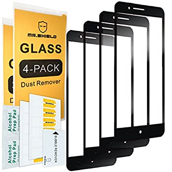 [4-PACK]-Mr.Shield Designed For ZTEBladeZMax [Full Cover] Screen Protector with Lifetime Replacement