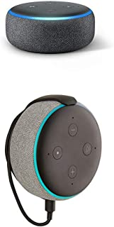 """Echo Dot (3rd Gen) bundle with""""Made for Amazon"""" Mount for Echo Dot - Charcoal"""