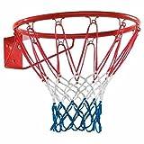 REPLOOD Canestro Basket Regolamentare 46 Cm 18' con Rete e Kit per Montaggio in Metallo Colori Americani