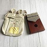 フィンガーカリンバパイノムビラサンザ親指ピアノポケットサイズサポートバッグセガキーボードマリンバウッド楽器17キー(2)