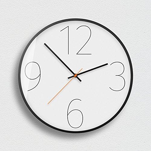 Wanduhr Lautlos Wohnzimmer Wanduhr Minimalistische Kunst Wanduhr Dekoration Stumm Wanduhr Digitale Wanduhr Weiß Studie Dekoration 12 Zoll F