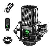 Micrófono de condensador con soporte amortiguador Micrófono de karaoke para anclar el teléfono móvil de la computadora de grabación en vivo