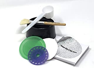 My-Cap Sampler - Complete Solution to Make Your Own Capsules for Nespresso VertuoLine Brewers (With Silicone Cap and Lid)