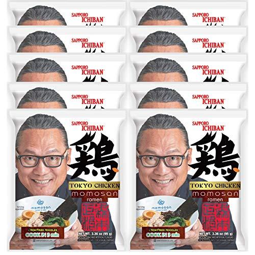 Sapporo Ichiban Tokyo Chicken Momosan Ramen by Iron Chef Morimoto , 3.44 Ounce (Pack of 10)