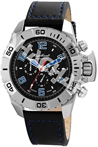 Engelhardt Herren Analog Mechanik Uhr mit Leder Armband 388921129003