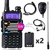 BaoFeng Radio High Power Ham Radio Handheld 144-148Mhz/420-450Mhz Upgraded BaoFeng UV-5R Walkie Talkie with 2pcs Rechargeable 1800mAh Battery Includes Full Kit