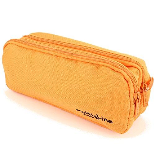 Grafoplás 37542052-Estuche portatodo doble Multiline color naranja