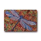 WYHAW Felpudo Alfombra de baño Alfombra Dragonfly Art Painting...