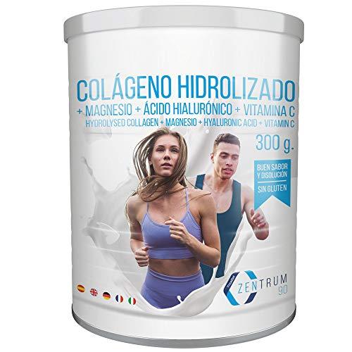 Colágeno Con Magnesio - Colágeno hidrolizado en polvo con magnesio, ácido hialurónico y vitamina C – Salud en huesos y articulaciones – 300 gramos
