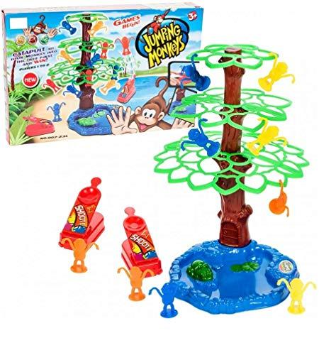 NEU! Jumping Monkeys - Geniales Katapult Aktionsspiel Affen Spiel Schleuder Affenspiel Familienspiel Gesellschaftsspiel Partyspiel Geschicklichkeitsspiel mit hohem Spaßfaktor