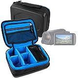 DURAGADGET Bolsa Acolchada Profesional Negra con Compartimentos para Videocámara Canon Legria HF R806 | HF R86 | HF R88 | Seree HDV-S38 | HDV-S14 | HDV-520 | Pyrus C6 | PY24