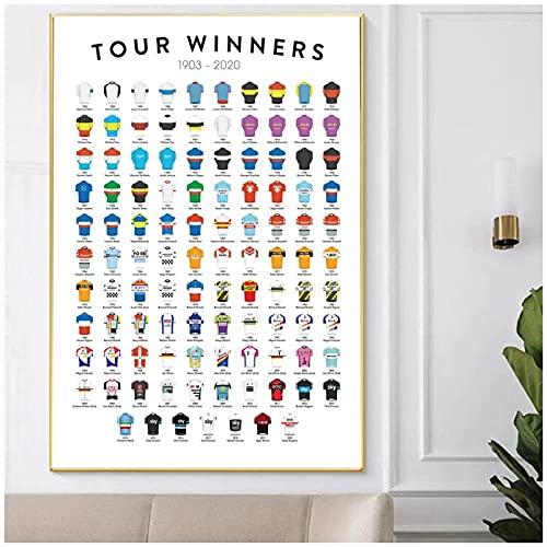 LIUYUEKAI Impresión de bicicletas Tour De France ganador re