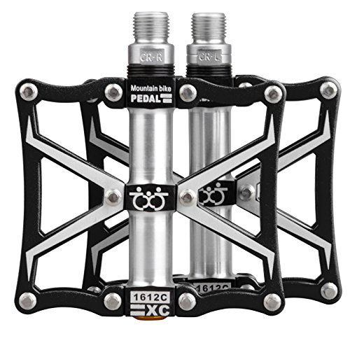 TXJ Mountain Bike Pedals Platform Bike Pedals Aluminum Alloy 9/16 CNC Ultra Sealed Bearing Bicycle Bike Pedals