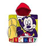 Mickey Mouse Poncho algodón Referencia KD Playa lavarse la Cara-Toallas Textiles del hogar Unisex Adulto, Compuesto, Multicolor (Multicolor), única