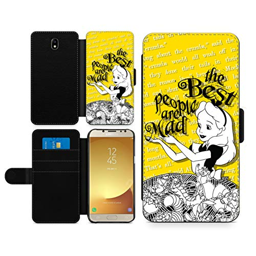 Alice in Wonderland Inspired Phone case Best People are Mad Fan Art Faux Leather flip Wallet Mobile Cover for iPhone 11 Pro Max