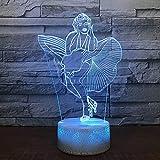 Ángel imaginativo base de grietas luz led 3d panel acrílico creativo lámpara de escritorio pequeña multicolor luz ambiental luz visual luz nocturna LED luz decorativa preferida