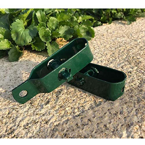 1 x valla tensor de alambre para valla de valla de alambre galvanizado verde o natural, rollo recubierto de trenzado para jardín (verde (90 mm)