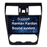 SYGAV Android 10 Carplay Radio for 2016 2017 2018 Subaru Forester WRX STI Radio with Factory Harman Kardon Amplifier GPS Navigation HD 1280x720 Touch Screen Car Stereo Head Unit