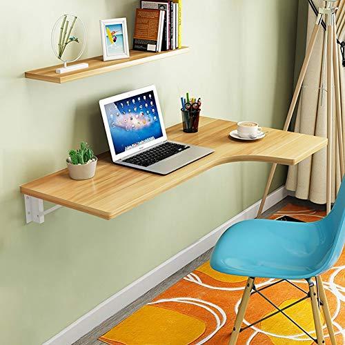LXDZXY Escritorio de la computadora montado en la pared del hogar - Esquina de la mesa plegable de la pared Escritorio de la computadora en forma de L Mesa de comedor Mesa de libro contra la p