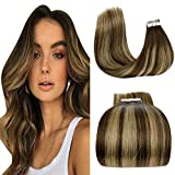 LaaVoo 16' Remi Tape in Hair Extension Adhesiva 50Gramo/20Pieza Cabello 100% Humano...