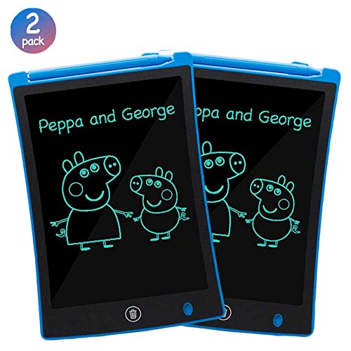 ORSEN LCD Writing Tablet 2 Pack, 8.5-inch Writing Board Doodle Board Drawing Pad with Newest LCD Pressure-Sensitive Technology, Gifts for Kids & Adults (Blue)