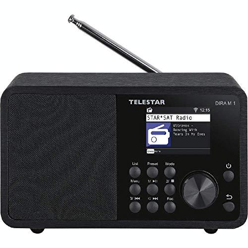 Telestar DIRA M 1 Kompaktes Multifunktionsradio (Internetradiostreams, DAB+, Bluetooth 5.1, TFT LCD Farbdisplay, USB Ladefunktion)