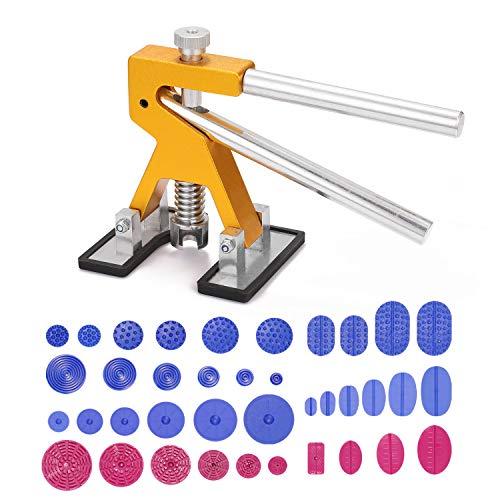 Vislon - Kit de herramientas para la reparación de abolladuras sin pintura, kit de herramientas para la reparación de elevador de abolladuras ajustable Kit de extractores para abolladuras